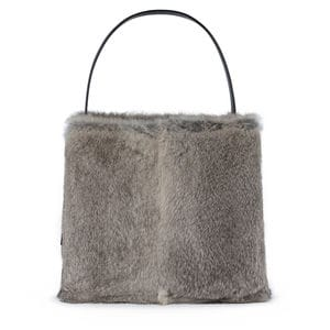 Gray Leather Sibil Warm Shoulder bag