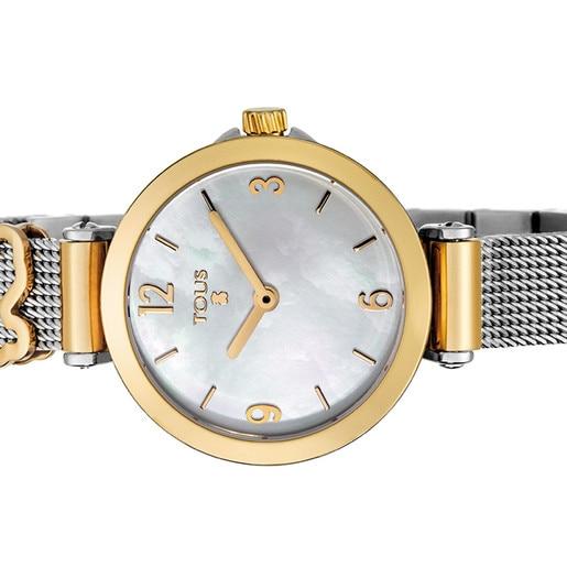 Reloj Icon Charms bicolor acero/IP dorado con nácar