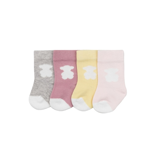 Pack 4 calcetines Sweet Socks Rosa