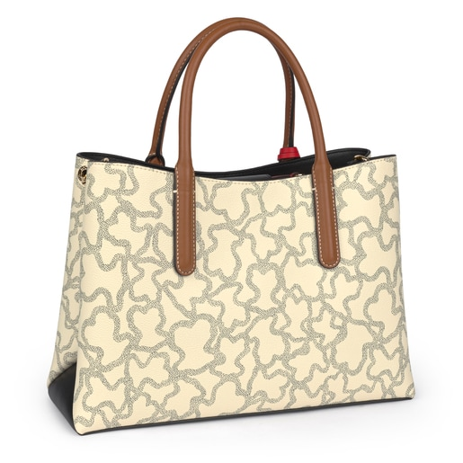 Bolso City Kaos Icon Multi Beige - Rojo