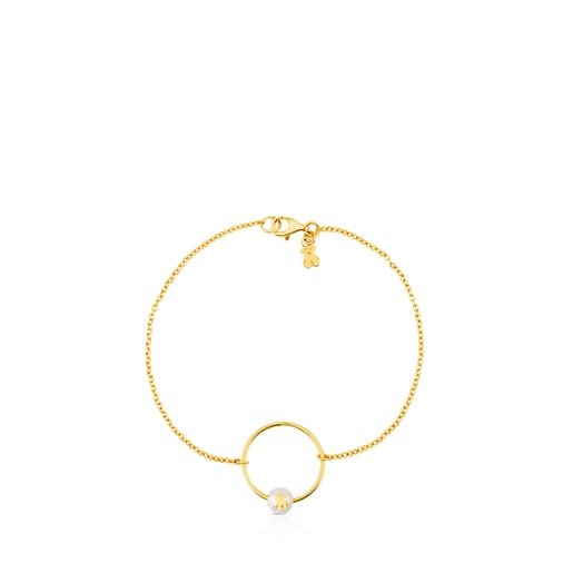 Gold Icon Pearl Bracelet with Pearl
