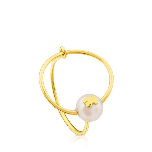 Ring Icon Pearl aus Gold