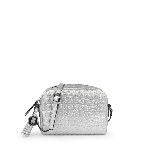 Silver leather Sherton crossbody bag