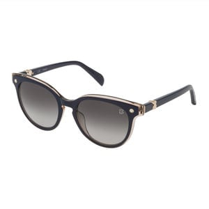 Blue Metal and Acetate Pantos Pearl Sunglasses