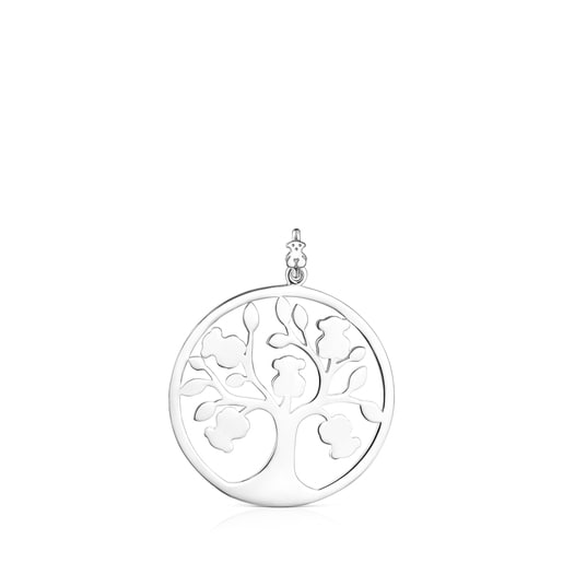 Silver TOUS Good Vibes tree Pendant