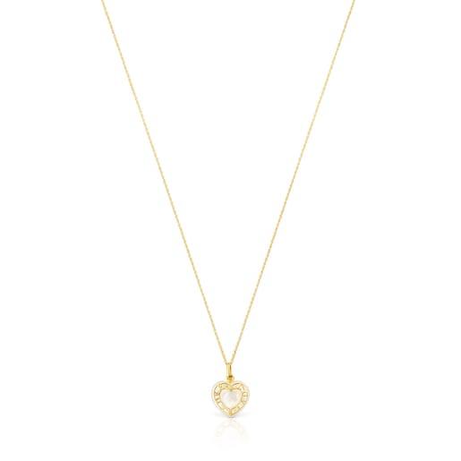 Κολιέ καρδιά San Valentín από Χρυσό με Φίλντισι