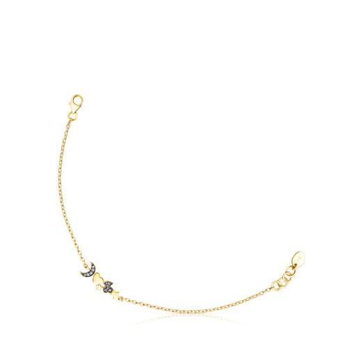 Silver Vermeil Nocturne Bracelet with Diamond charms