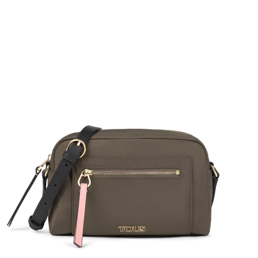 Medium khaki Shelby Crossbody bag