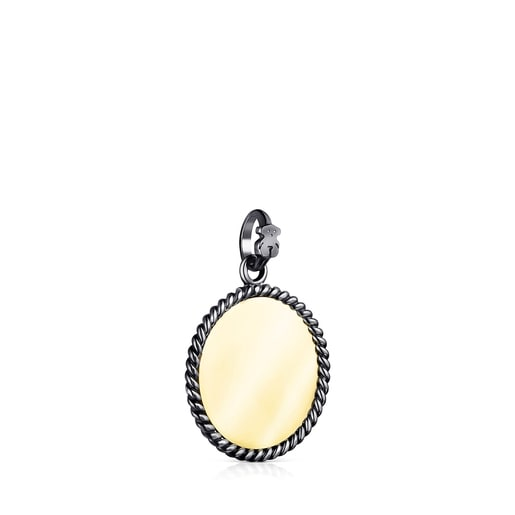 Silver Vermeil and Dark Silver Minne Pendant