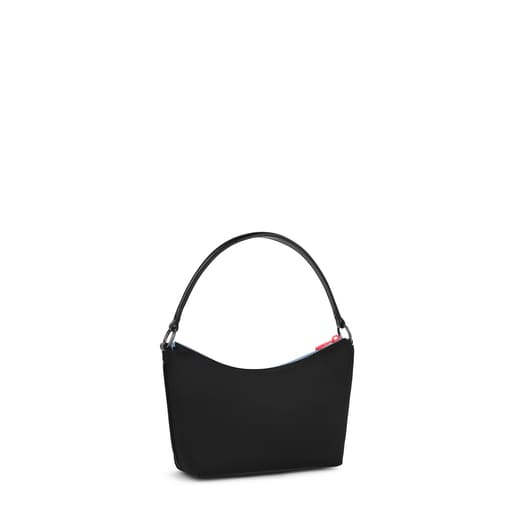 Black and multicolored Ina Baguette Crossbody bag