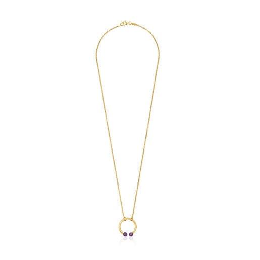 Halskette Batala aus Vermeil-Gold mit Amethyst
