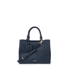 Small navy Leather Odalis City bag