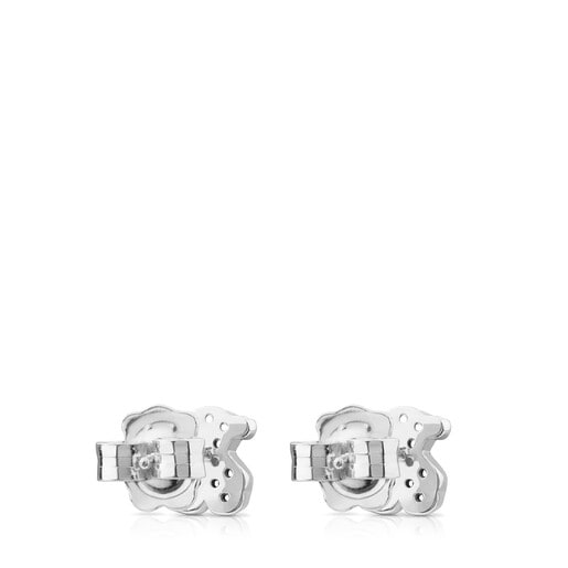 Silver Motif Earrings with Spinels