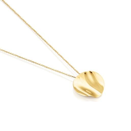 Silver Vermeil Nenufar petal Necklace