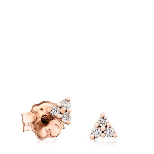 Pendientes TOUS Brillants de Oro rosa con Diamantes