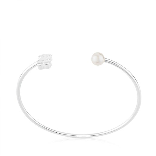 Silver TOUS Sweet Dolls Bracelet with pearl