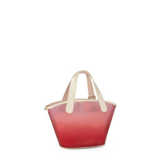 Sac shopping Leissa Gum petit de couleur rouge