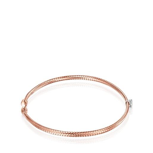 Light Bracelet in Rose Gold with Diamond rosette
