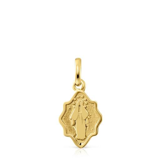 Colgante Devoción Virgen Milagrosa de Oro