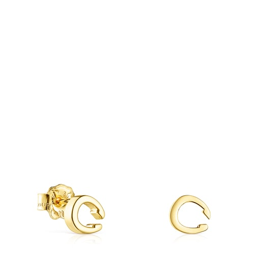 Gold TOUS Good Vibes horseshoe Earrings