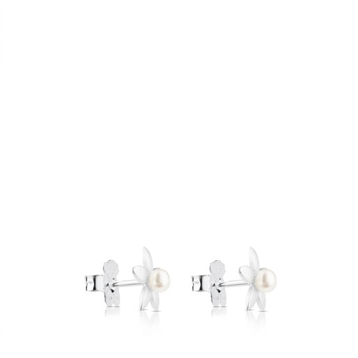 Silver Spring Earrings with Pearl