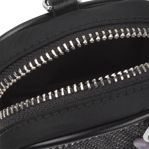 Small black and gray Ina Change purse