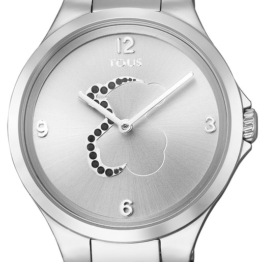Steel Motion Watch with Spinels