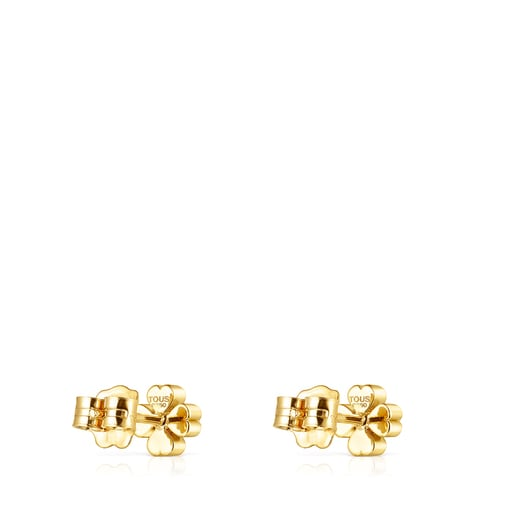 Gold TOUS Good Vibes clover Earrings