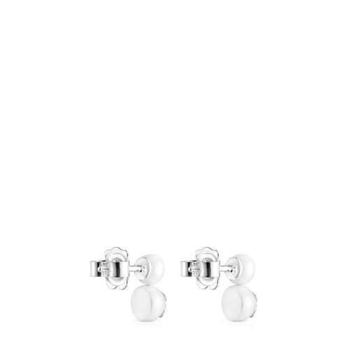 Aretes Icon Pearl de plata y perla