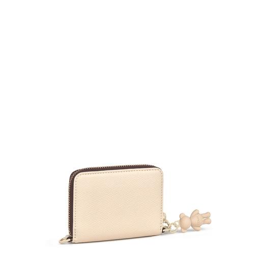 Medium beige TOUS Pop pendant Change purse