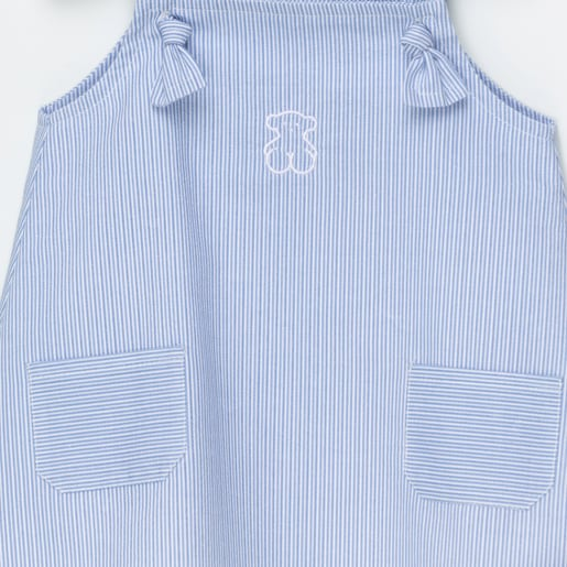 Vestido tirantes Strip Azul Celeste