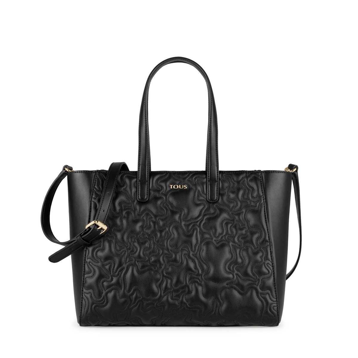 b88ba3d12d Black colored Kaos Capitone Tote bag - Tous Site US