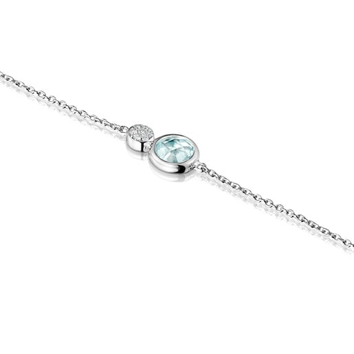 White Gold with Topaz and Diamonds Color Kings Bracelet