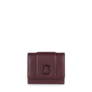 Small burgundy Leather Alfa Wallet