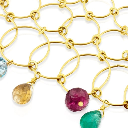 ATELIER Precious Gemstones Necklace in Gold with Gemstones