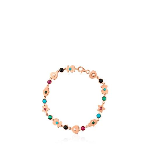 Rose Vermeil Silver Super Power Bracelet with Gemstones