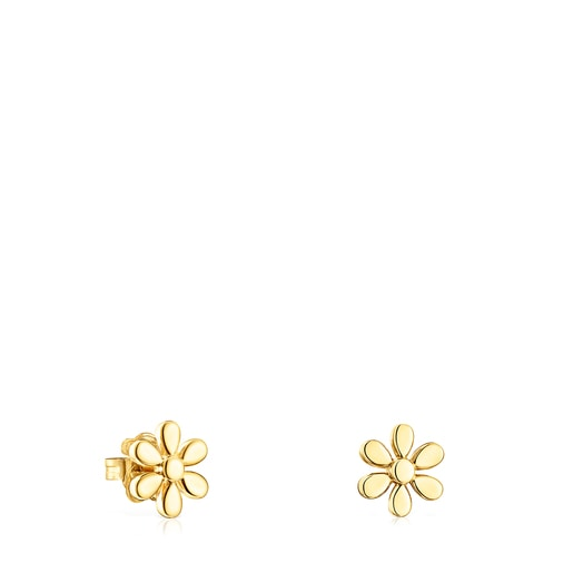 Silver Vermeil Fragile Nature flower Earrings