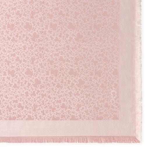Pañuelo Kaos Mini de jacquard rosa claro