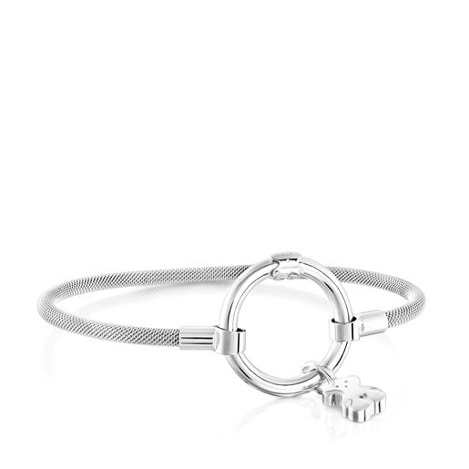 Silver and Steel Hold Bracelet