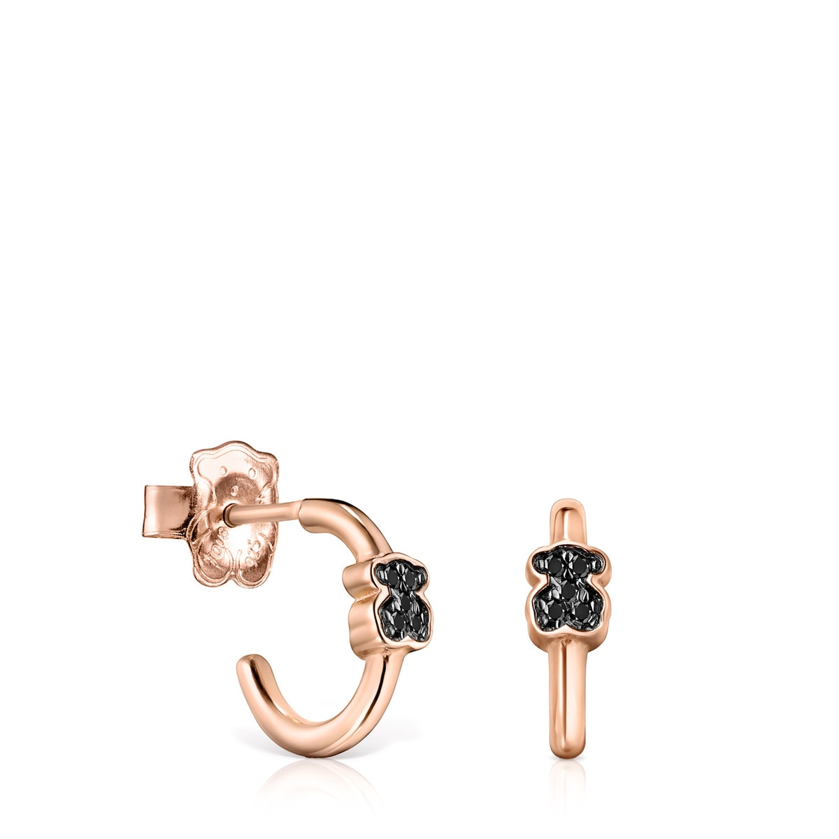 Rose Gold Vermeil Motif Earrings with Spinels