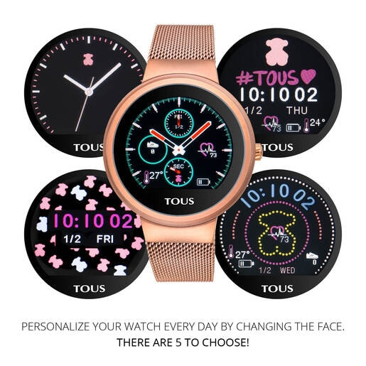 Rose IP Steel Rond Touch activity Watch