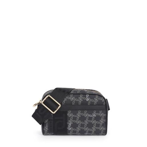 Small black Tous Logogram crossbody bag