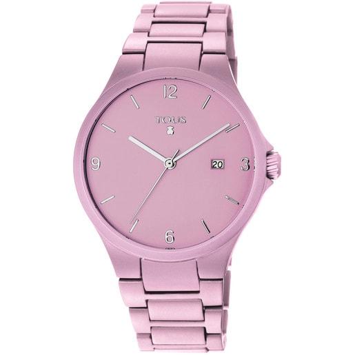 Reloj Motion Aluminio de aluminio anodizado rosa