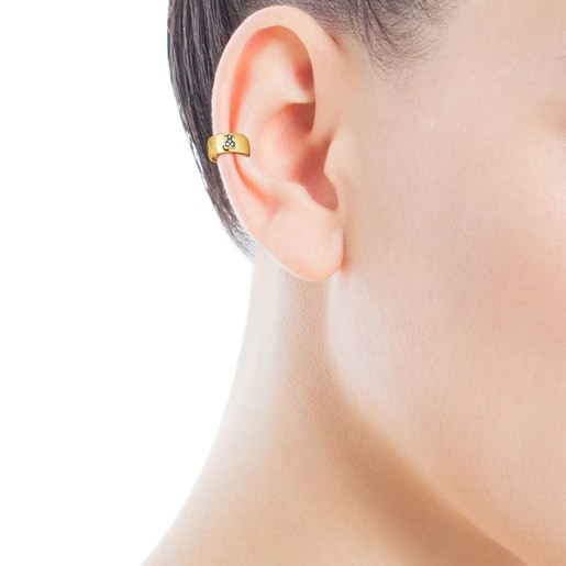 Silver Vermeil Nocturne Earcuff with Diamond bear