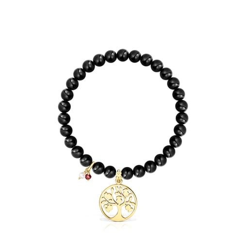 Silver Vermeil TOUS Good Vibes tree Bracelet with Shungites