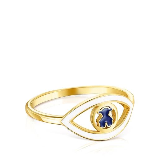 Silver Vermeil TOUS Good Vibes eye Ring