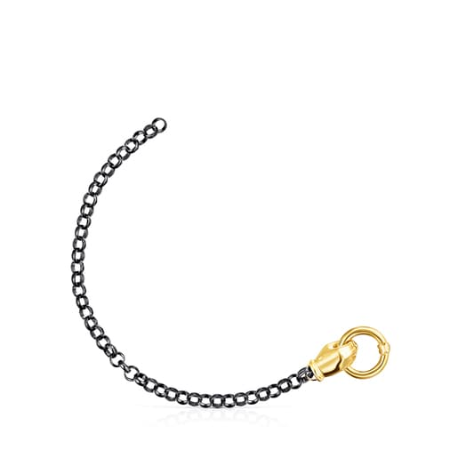 Bracelet Job main en Argent Dark Silver et Argent Vermeil