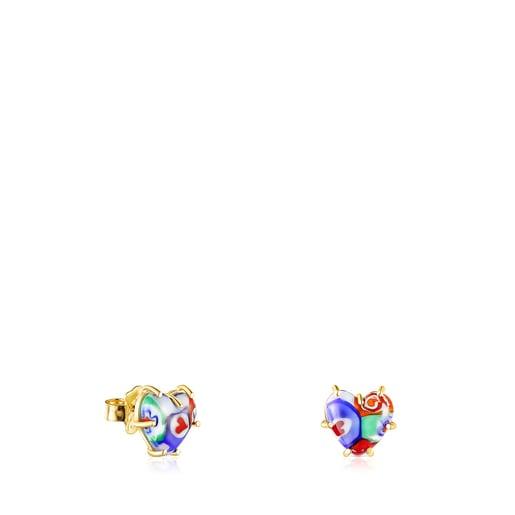 Brincos coração em Cristal de Murano San Valentín