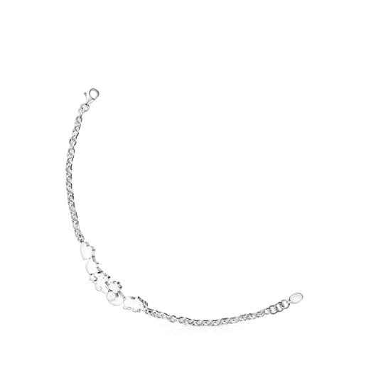 Pulsera motivos de plata con perla Nocturne