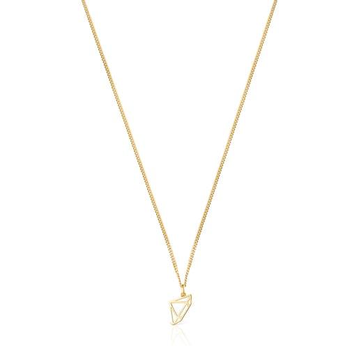 Halskette Job Diamant aus Vermeil-Silber
